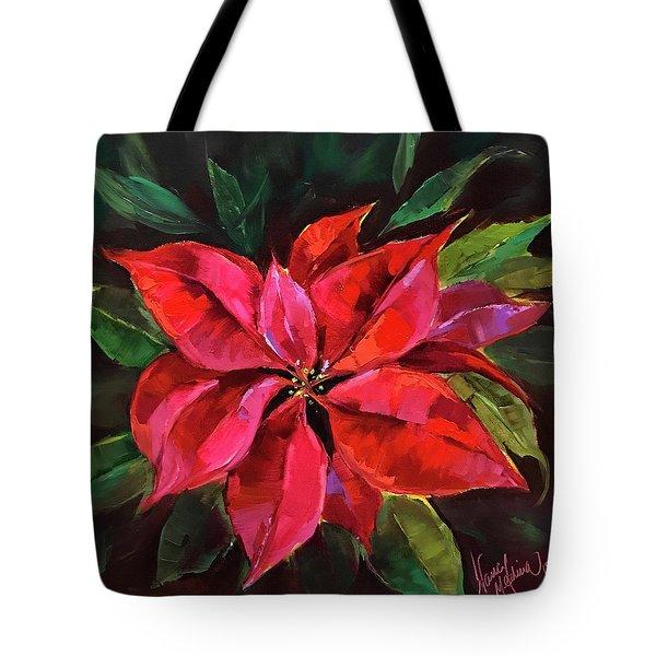 Colors Of The Season Poinsettias Tote Bag