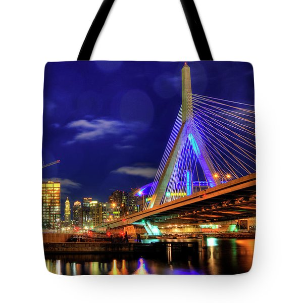 Tote Bag featuring the photograph Colors Of The Zakim Bridge - Boston, Ma by Joann Vitali