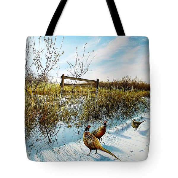 Colors Of Winter - Pheasants Tote Bag