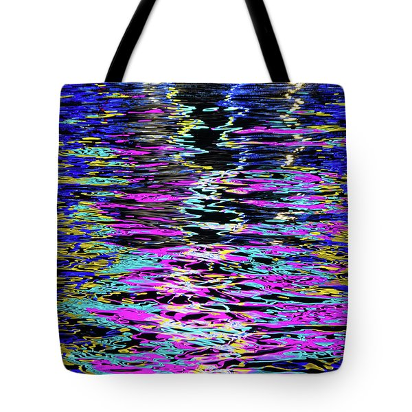 Tote Bag featuring the photograph Colors On Water by Erin Kohlenberg