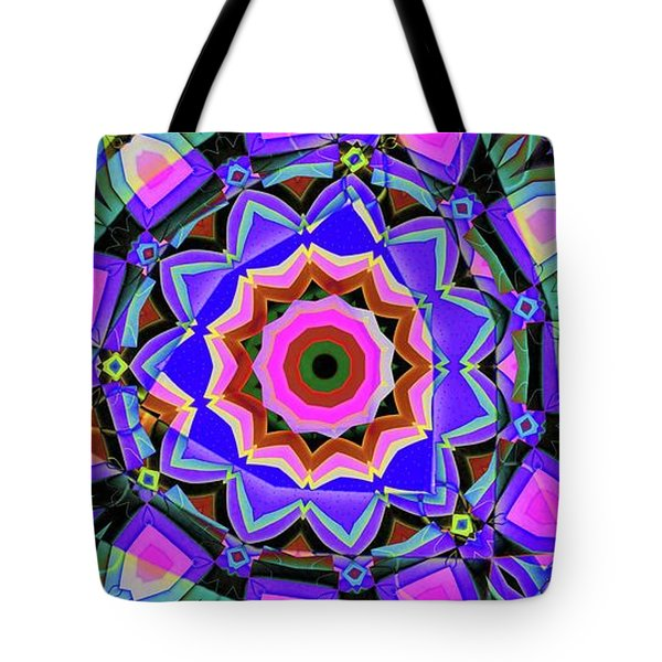 Colors O're Laid Tote Bag by Ron Bissett