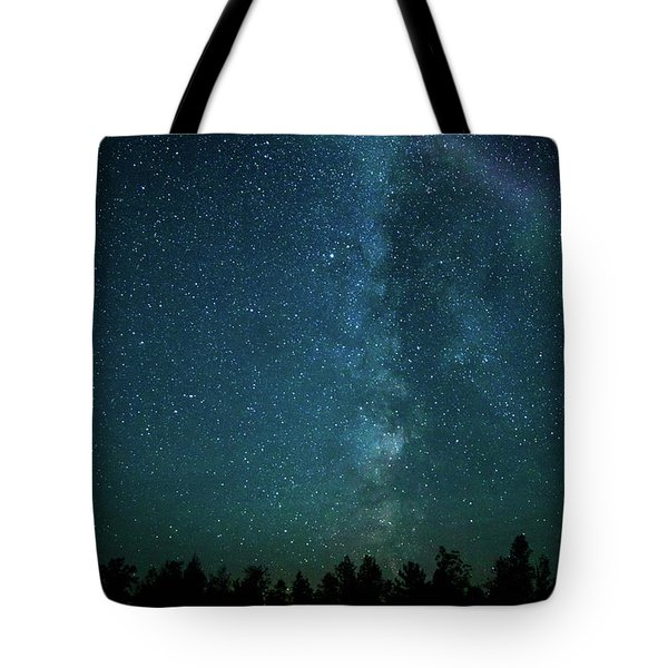 Colors Over The Milky Way Tote Bag