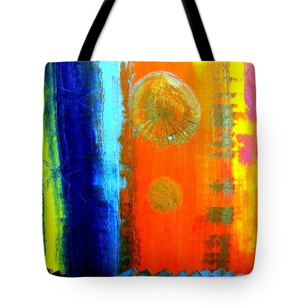 Tote Bag featuring the painting Colorz 1 by Piety Dsilva