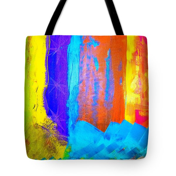 Tote Bag featuring the painting Colorz by Piety Dsilva