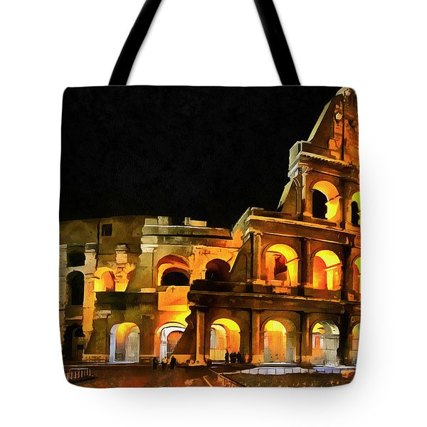 Colosseum Under The Moon Tote Bag