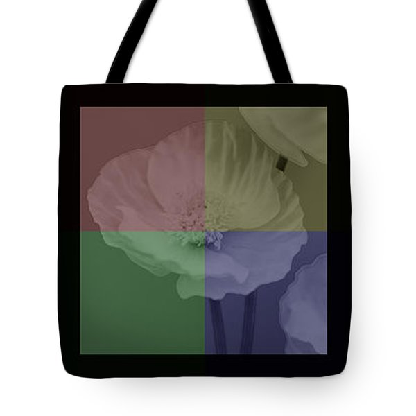 Colour Block Poppy Triptych Tote Bag by Lisa Knechtel