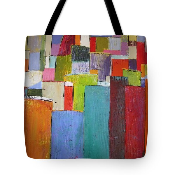 Tote Bag featuring the painting Colour Block7 by Chris Hobel