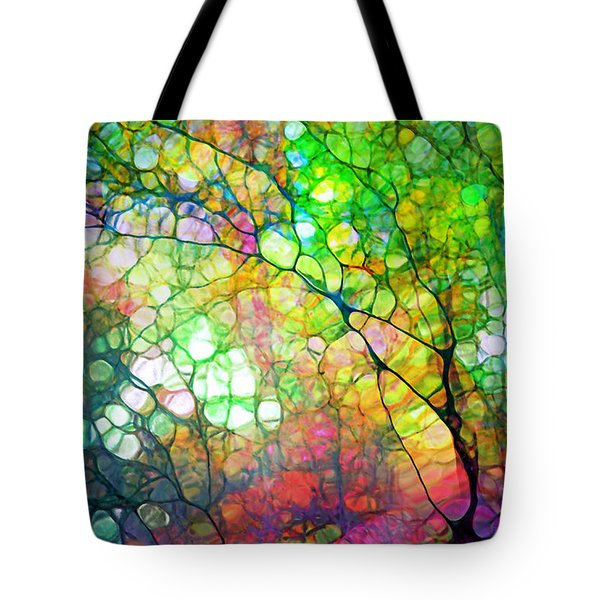 Colour Combustion Tote Bag