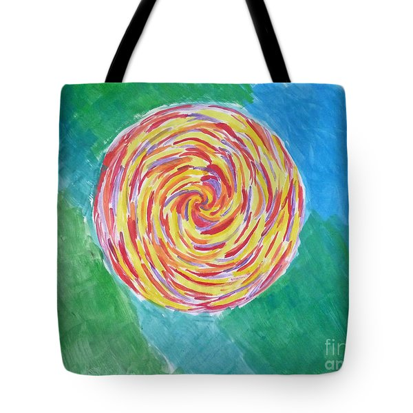 Colour Me Spiral Tote Bag