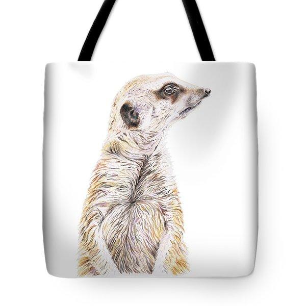 Colour Meerkat Tote Bag