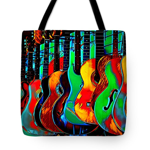 Tote Bag featuring the digital art Colour Of Music by Pennie McCracken