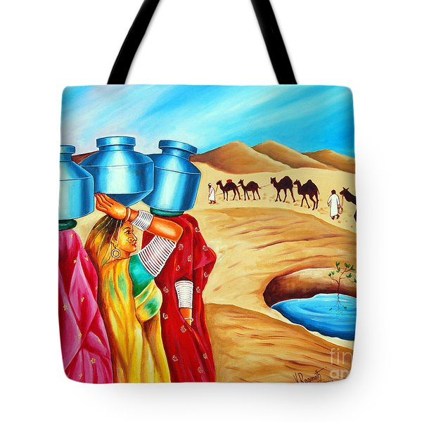 Colour Of Oasis Tote Bag by Ragunath Venkatraman
