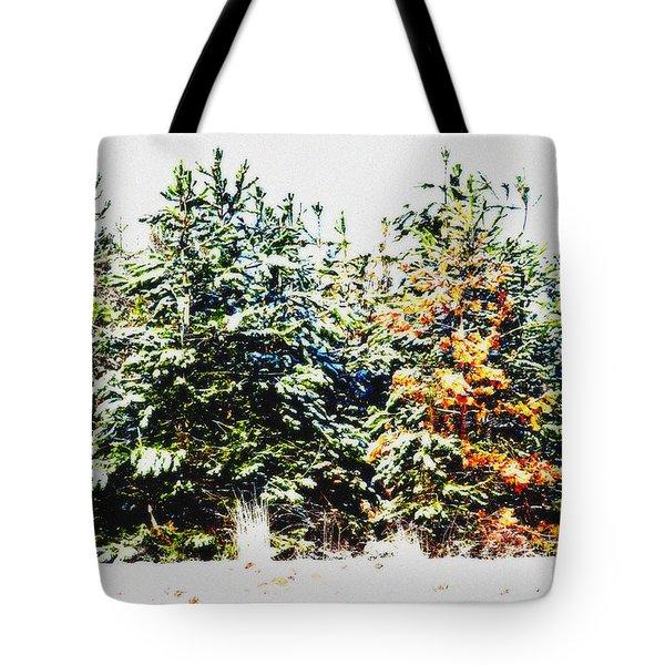 Coloured Trees  Tote Bag