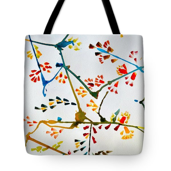 Colourful Blossoms Tote Bag by Sonali Gangane