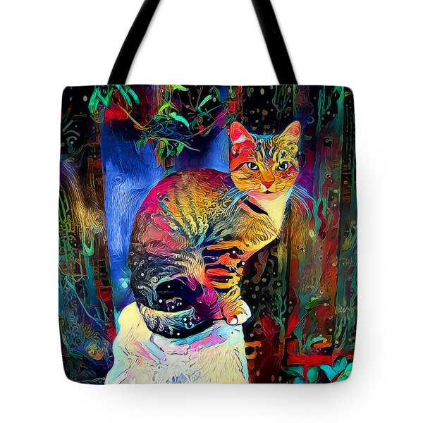 Colourful Calico Tote Bag