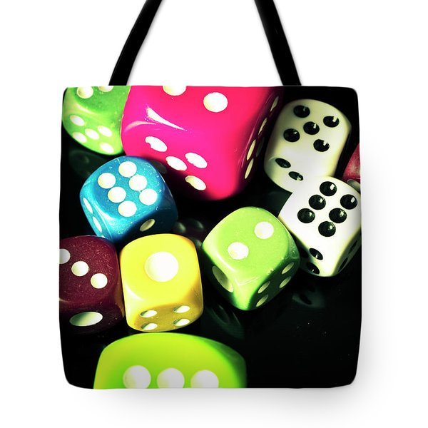 Colourful Casino Dice  Tote Bag