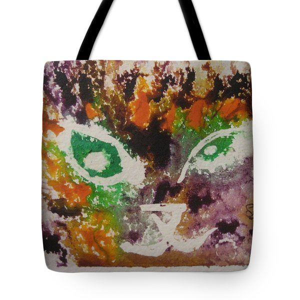 Colourful Cat Face Tote Bag