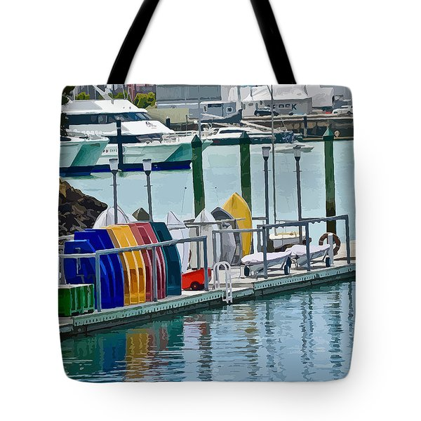 Colourful Dinghies Auckland Tote Bag
