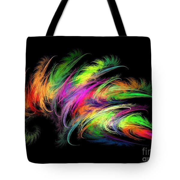 Colourful Feather Tote Bag
