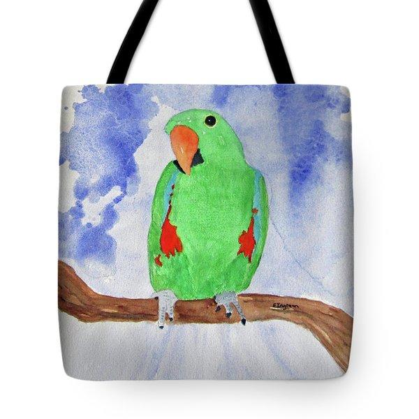 Female Parrot Tote Bag