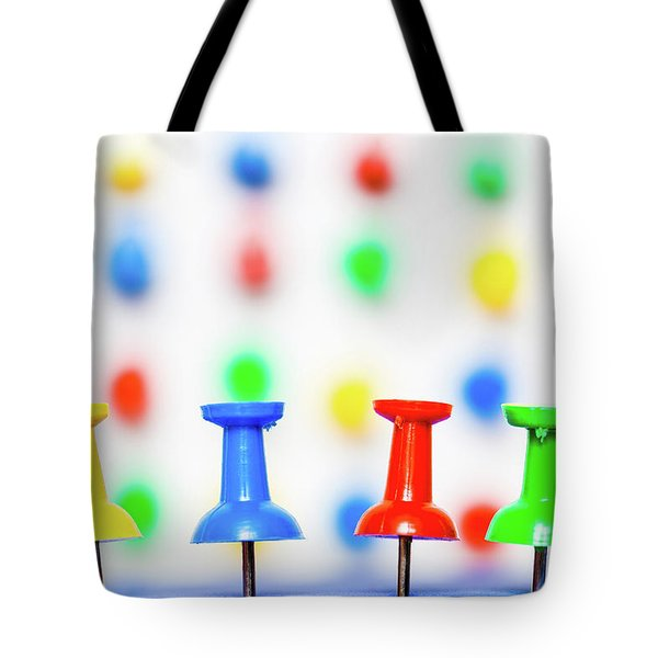 Colourful Pins. Tote Bag