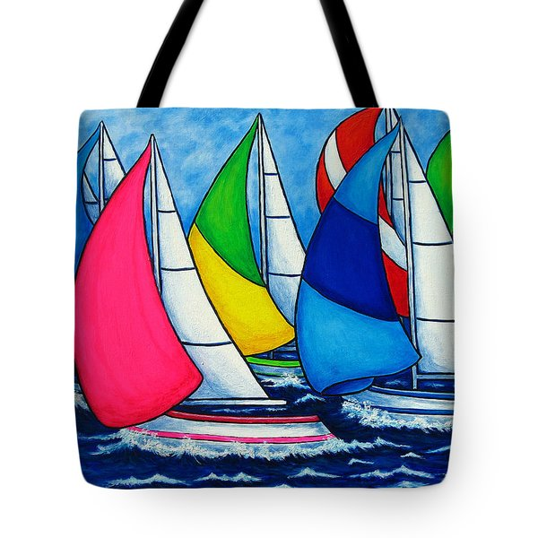Colourful Regatta Tote Bag