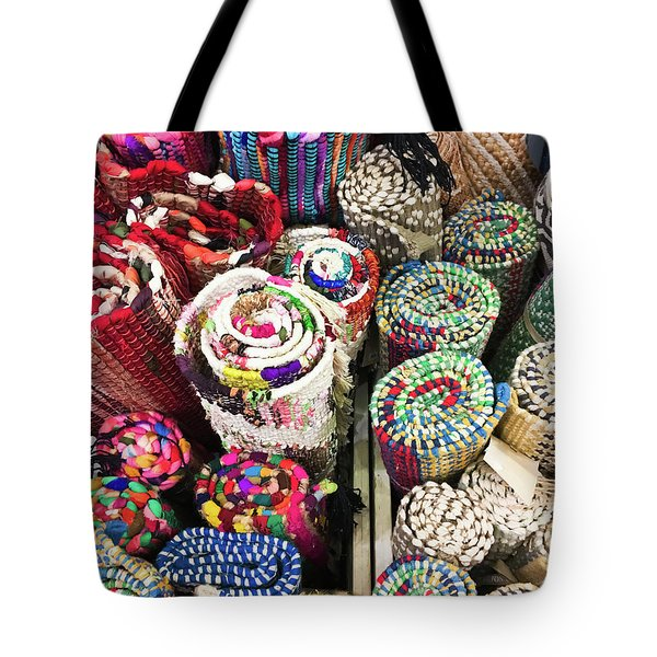 Colourful Rugs Background  Tote Bag