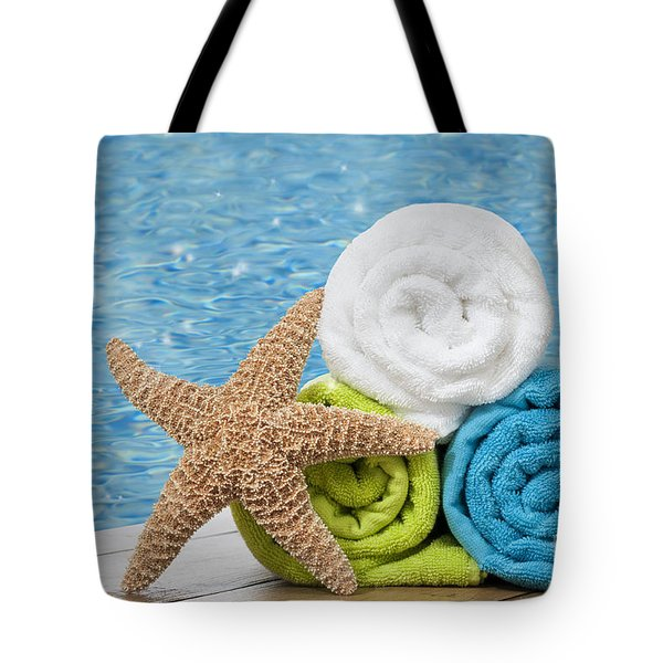 Colourful Towels Tote Bag by Amanda Elwell