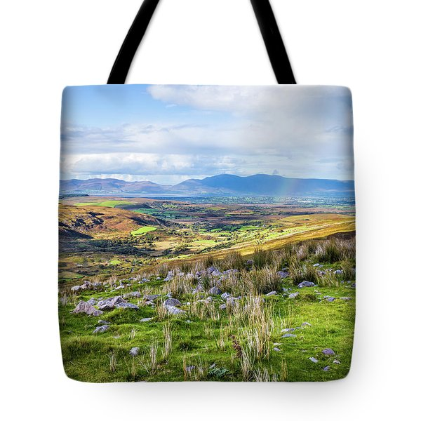 Tote Bag featuring the photograph Colourful Undulating Irish Landscape In Kerry  by Semmick Photo