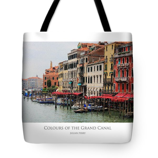 Colours Of The Grand Canal Tote Bag