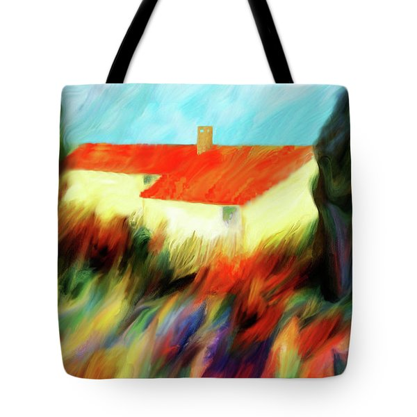 Tote Bag featuring the painting Colours Of The Wind by Valerie Anne Kelly