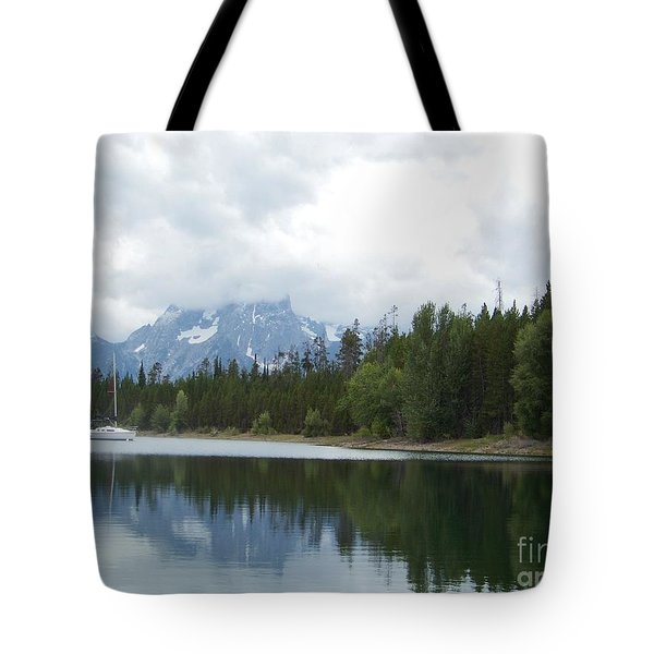 Tote Bag featuring the photograph Colter Bay by Charles Robinson
