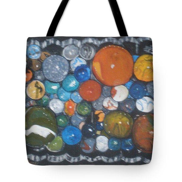 Tote Bag featuring the painting Coltons Marbles by Betty-Anne McDonald