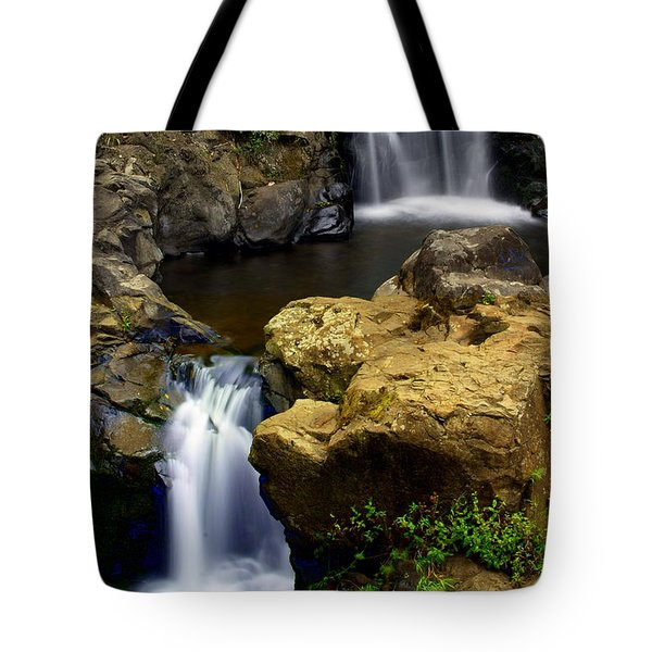 Columba River Gorge Falls 2 Tote Bag by Marty Koch