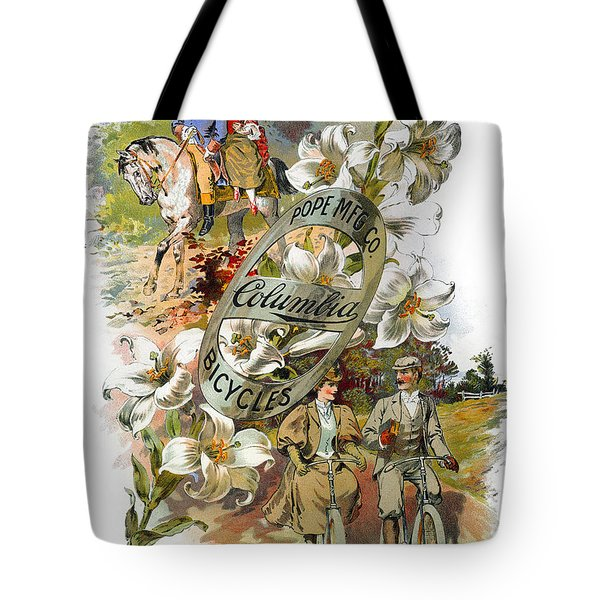 Columbia Bicycles Poster Tote Bag by Granger