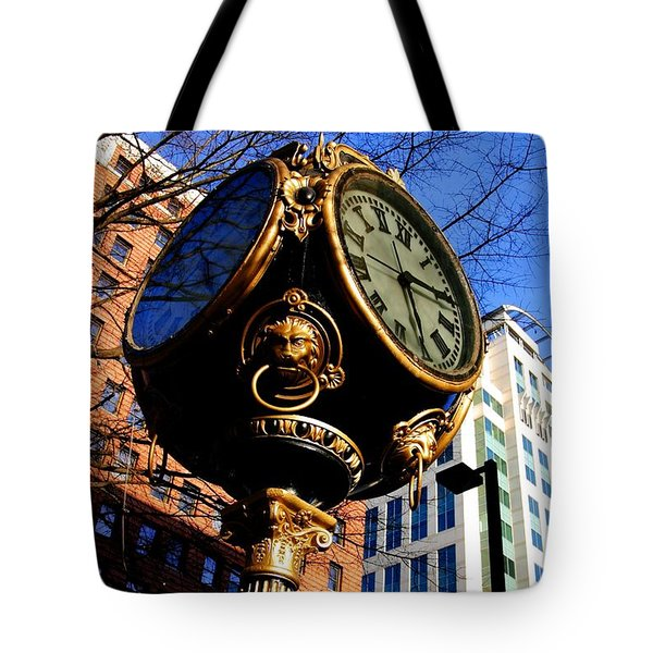 Tote Bag featuring the photograph Columbia Clock by Joseph C Hinson Photography