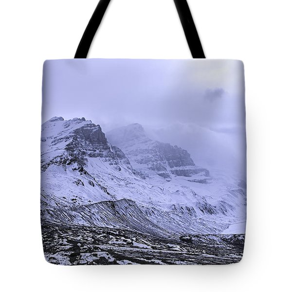 Tote Bag featuring the photograph Columbia Ice Fields by John Gilbert