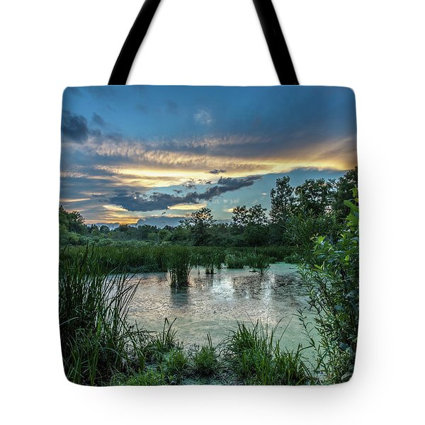 Columbia Marsh Sunset Tote Bag