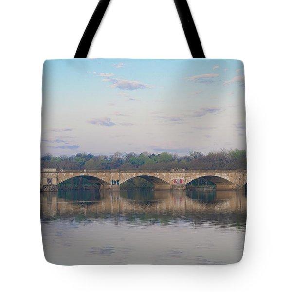 Tote Bag featuring the photograph Columbia Railroad Bridge - Philadelphia by Bill Cannon