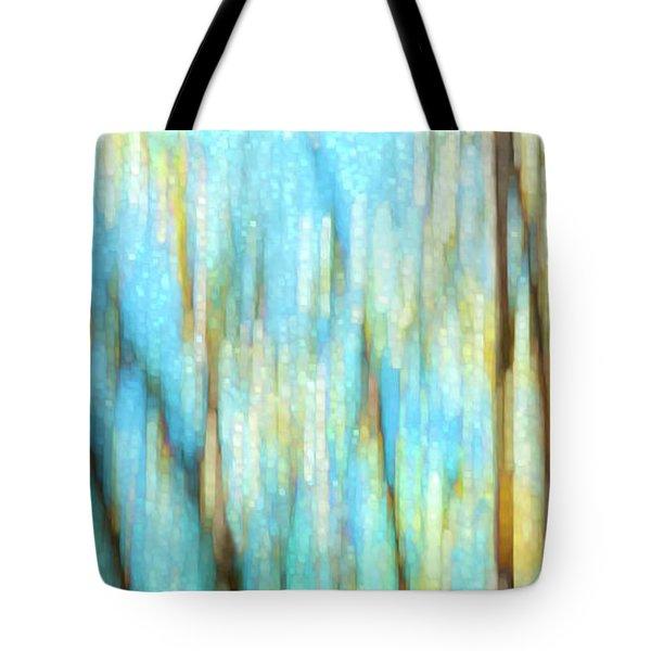 Columbia River Abstract Tote Bag by Theresa Tahara