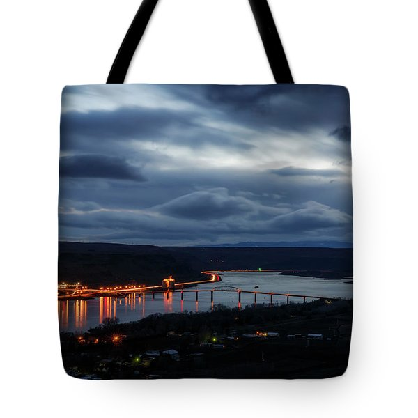 Tote Bag featuring the photograph Columbia River by Cat Connor