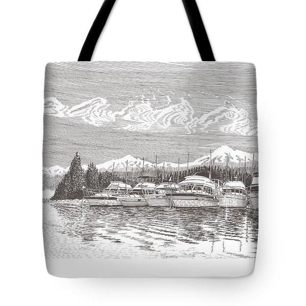 Columbia River Raft Up Tote Bag by Jack Pumphrey