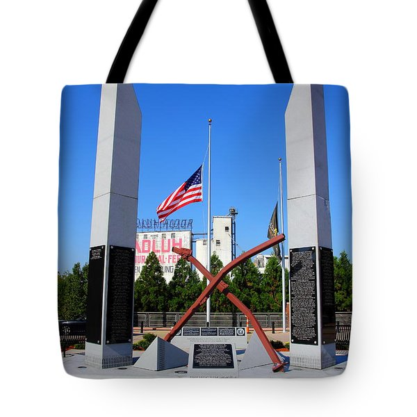 Tote Bag featuring the photograph Columbia, Sc First Responders Memorial by Joseph C Hinson Photography