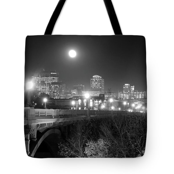 Columbia Skyline At Night Tote Bag
