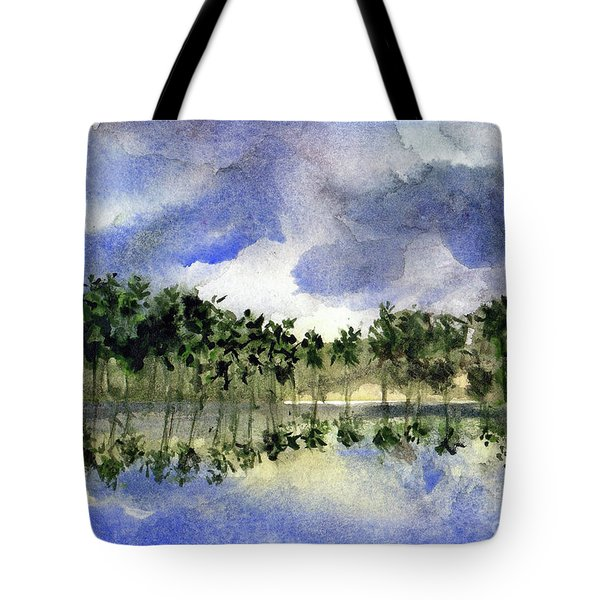 Columbian Shoreline Tote Bag by Randy Sprout