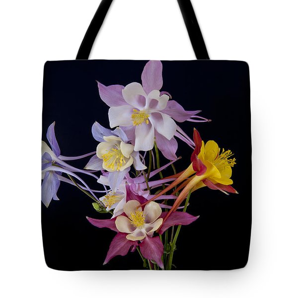 Tote Bag featuring the photograph Columbine Medley by Gary Lengyel