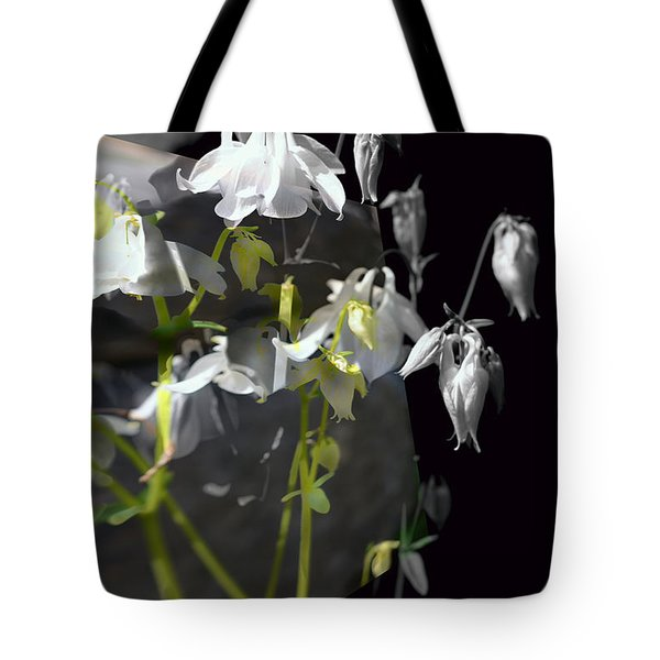 Columbine Shades Of Grey Tote Bag by Elaine Hunter
