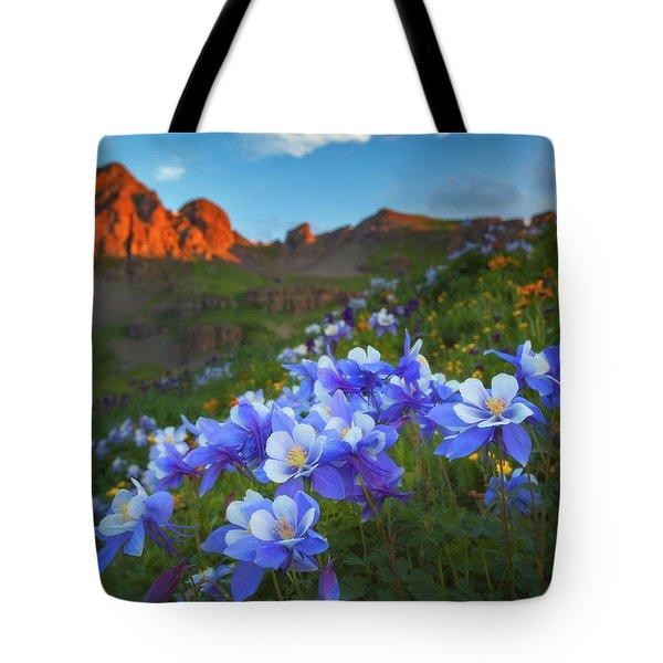 Columbine Sunrise Tote Bag