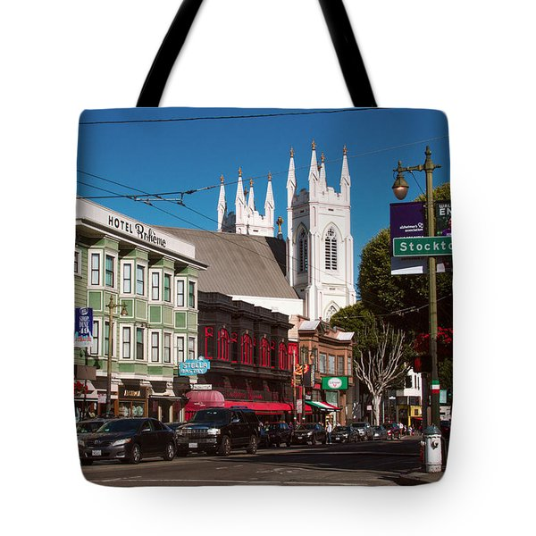 Columbus And Stockton In North Beach Tote Bag