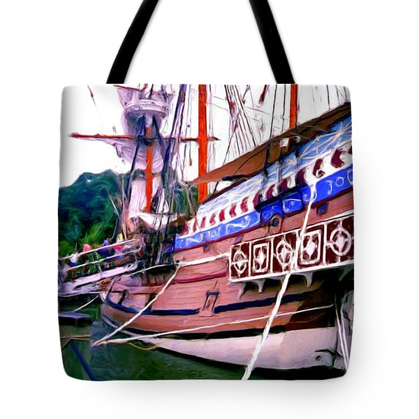 Columbus Day Celebration Tote Bag by Methune Hively